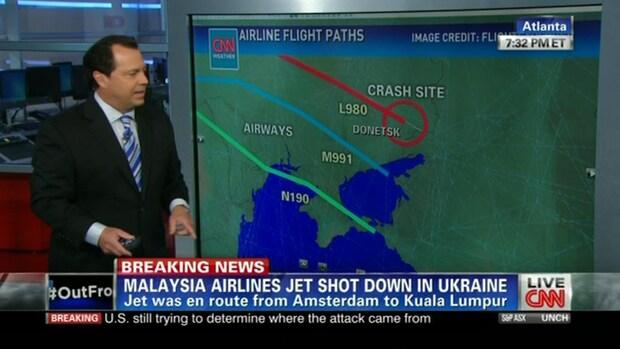 'Vliegtuig Malaysia Airlines week af van route'