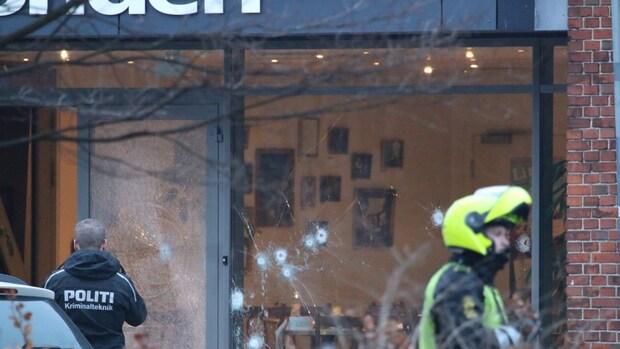 Aanslag bij debat Kopenhagen: kogelgaten in ruiten