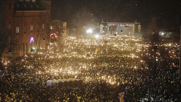 Denen massaal naar herdenking Kopenhagen