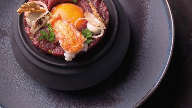 Steak tartaar met langoustine