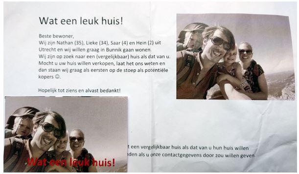 voorbeeldbrief verkoop huis Droomhuis gezien maar niet te koop? Stop dan een briefje in de bus  voorbeeldbrief verkoop huis