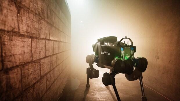 Autonome robotviervoeter in actie tijdens Bright Day