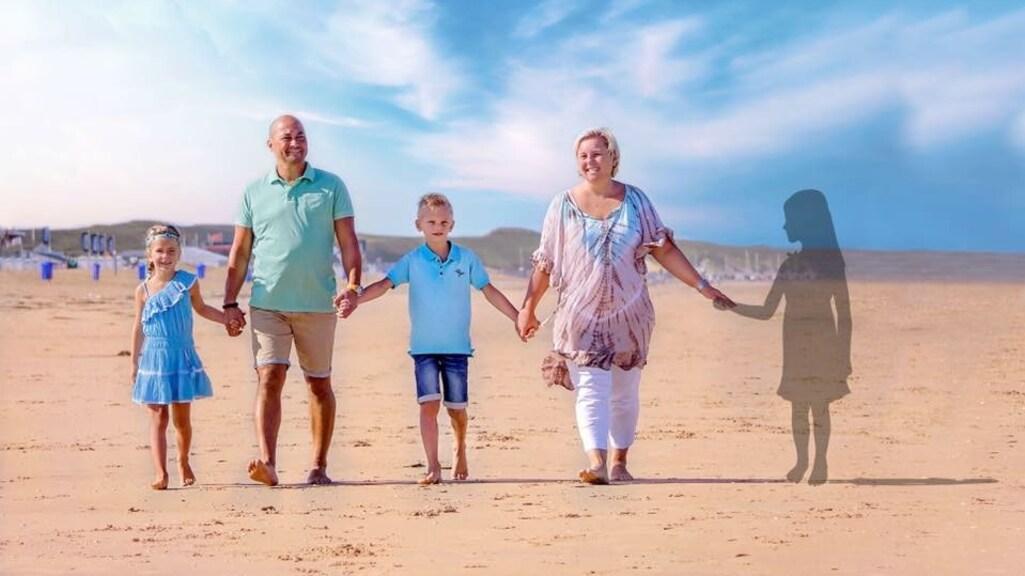 Natasja met haar complete gezin.