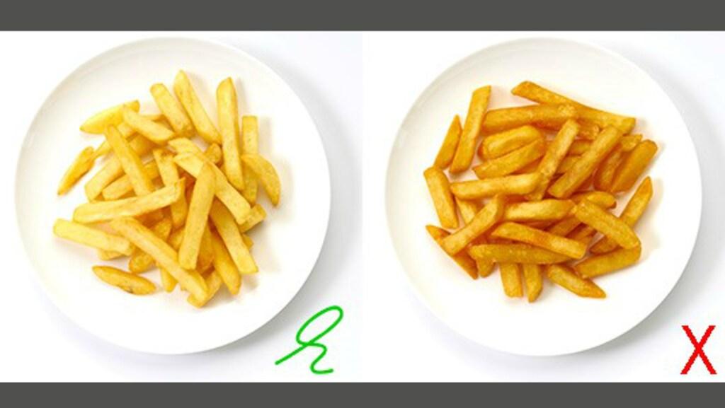 In goudgele frietjes zit niet de mogelijk kankerverwekkende stof acrylamide
