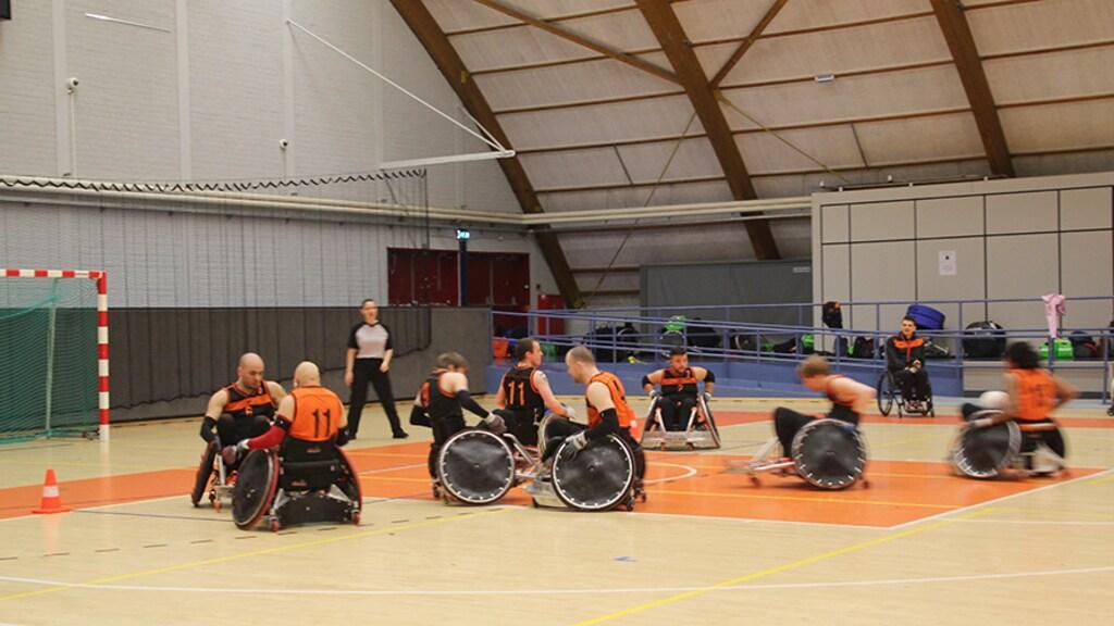 De oefenwedstrijd in Sporthallen Zuid.