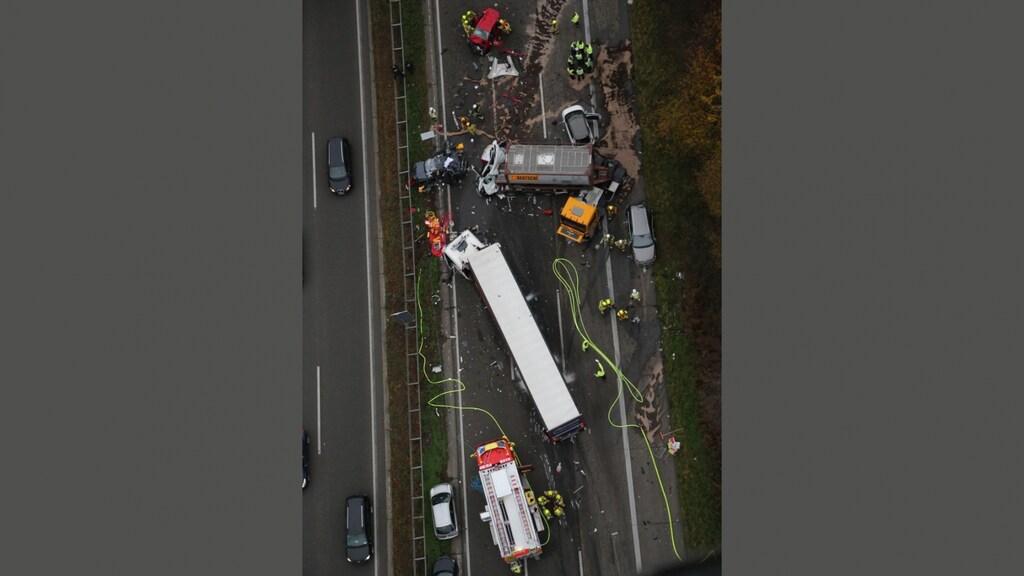 De plek van het ongeluk op de A3.