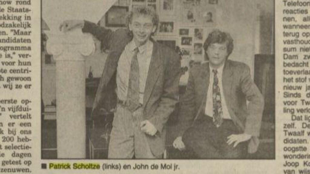 Nieuwsblad van het Noorden over de Staatsloterijshow in 1992.