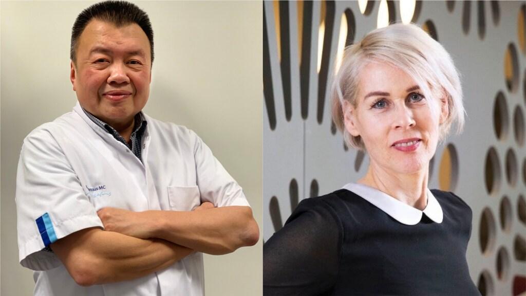 Dr. Bing Thio (links) en dr. professor Andrea Evers (rechts)