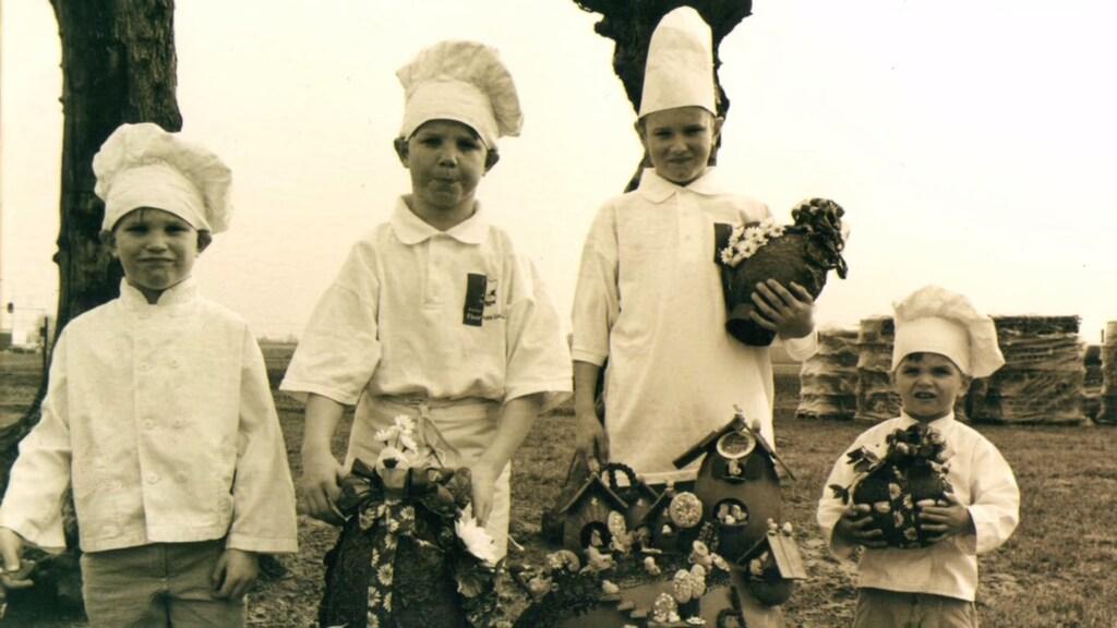 Floris van Lieshout (rechts) en zijn drie broers.