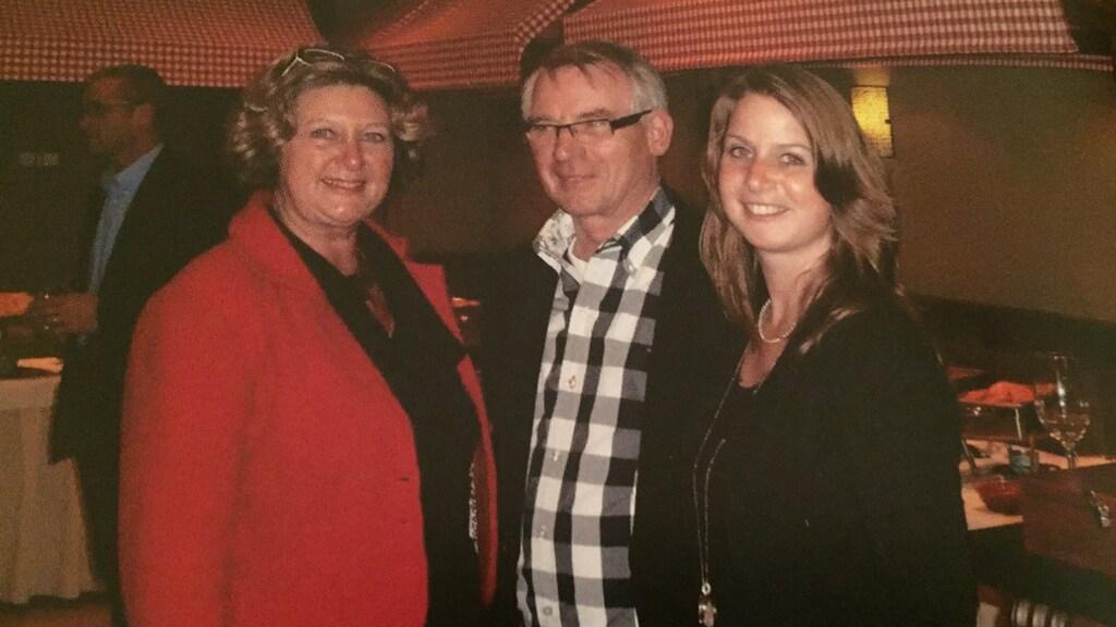 Astrid en haar ouders, Bart en Jeanne.