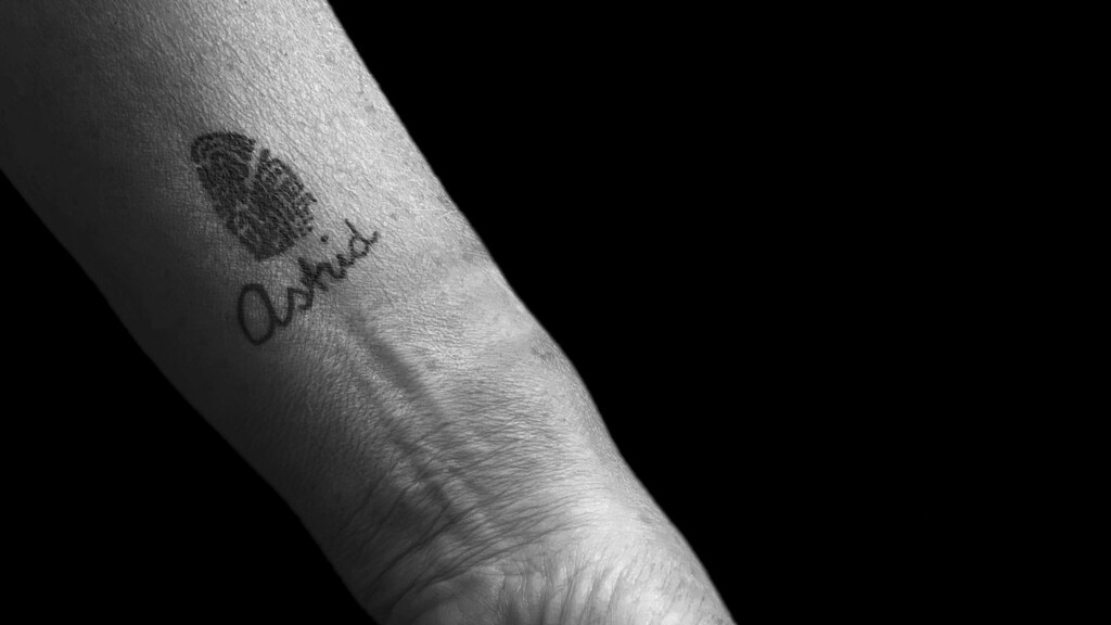De tattoo van Jeanne.