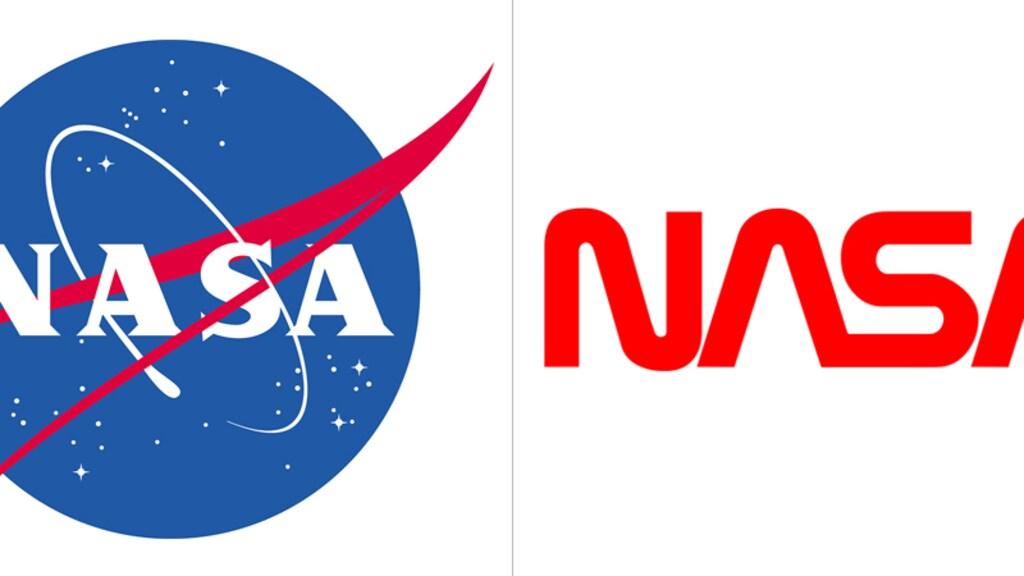 De twee logo's van NASA