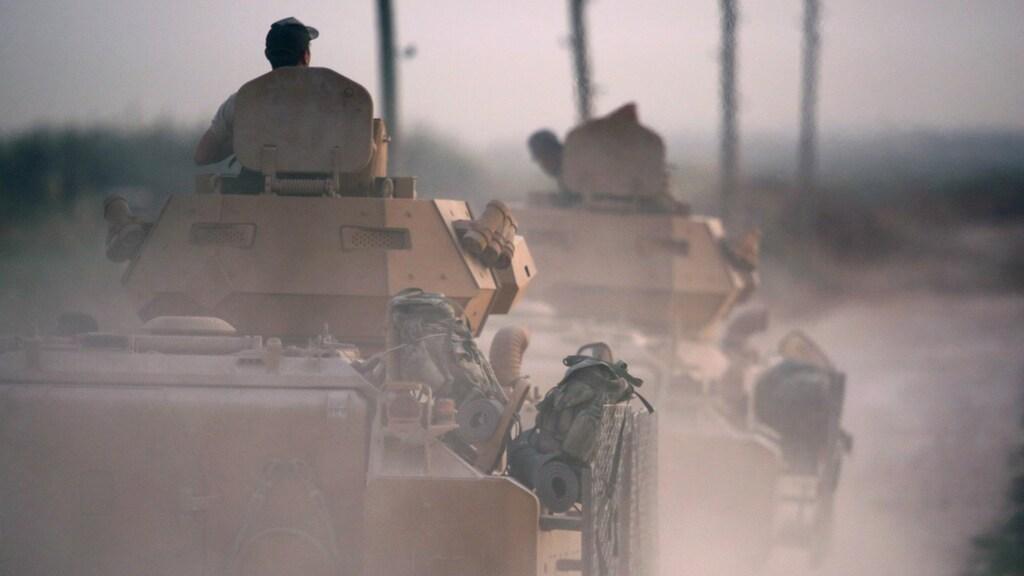 Turkse soldaten in het noorden van Syrië