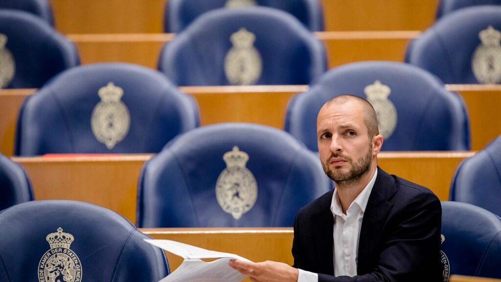 Maarten Hijink (SP) tijdens een debat