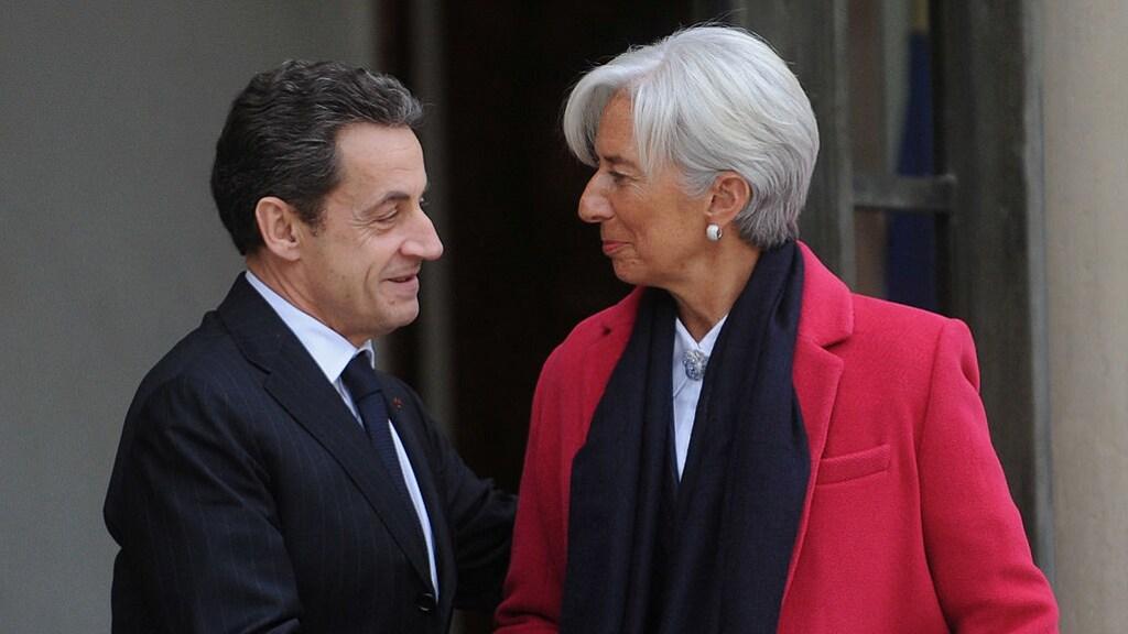 Oud-president Nicolas Sarkozy en Lagarde in 2012.
