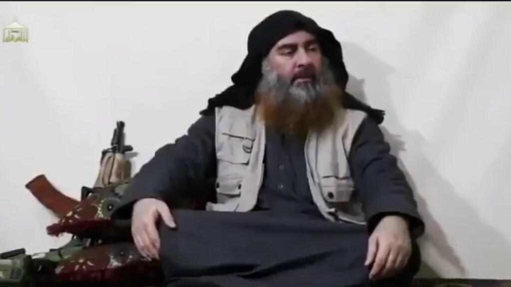 Abu Bakr al-Baghdadi tijdens zijn laatste videoboodschap in april.