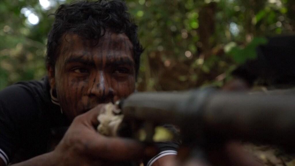 Paulo Paulino Guajajara in september in de Amazone-jungle.