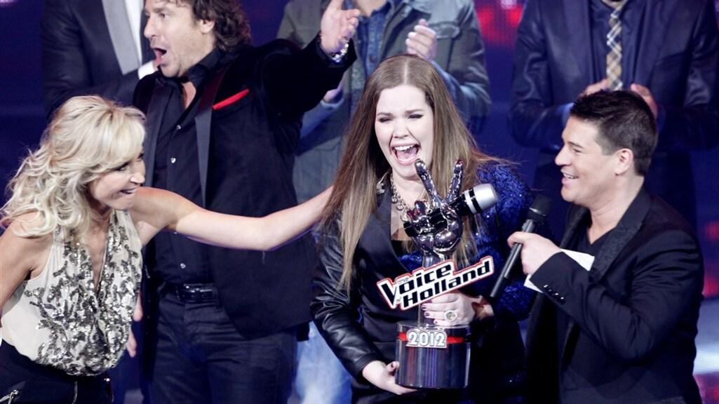 Een nog piepjonge Kroes wint The Voice in 2012.