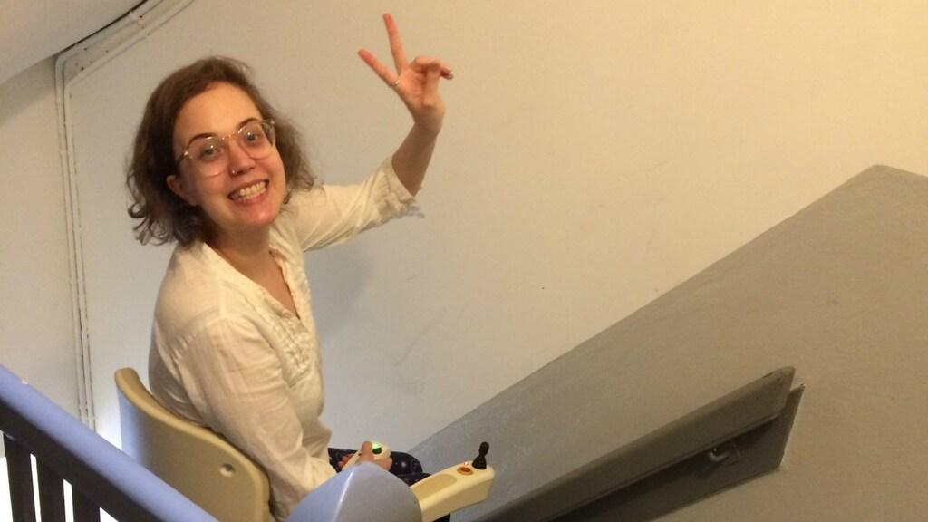 Annika en haar traplift