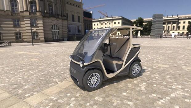 Nederlanders komen met kleine stadsauto op zonne-energie