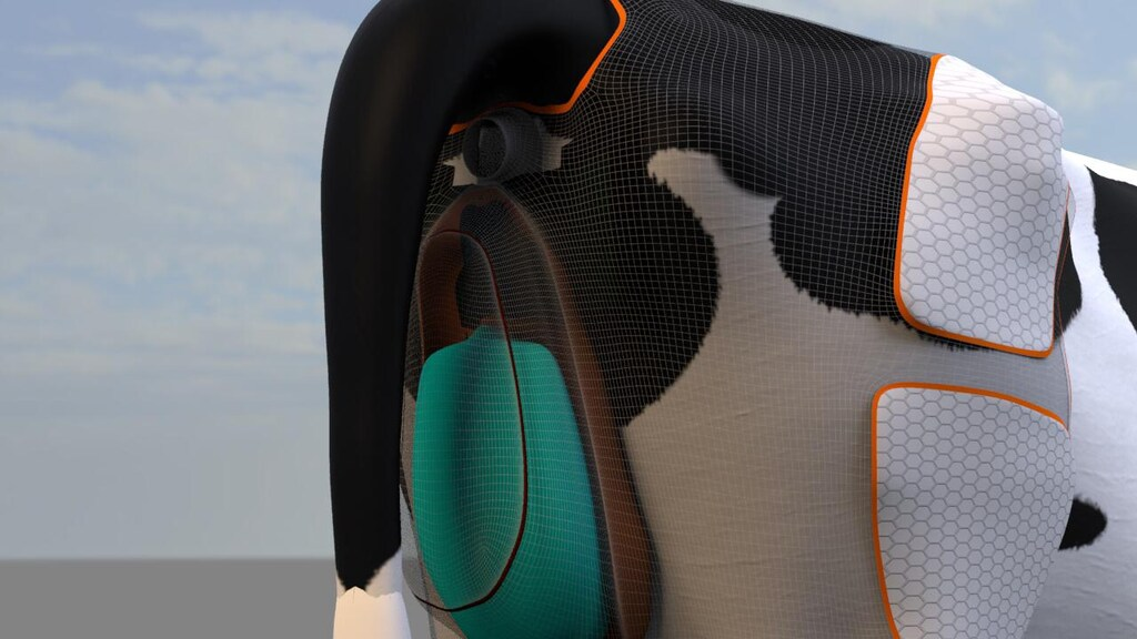 Agri Suits werkt aan een luier voor koeien waarmee de urine wordt opgevangen.