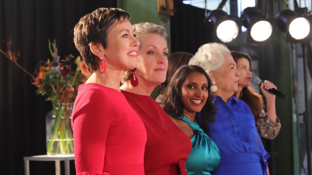De vier vrouwen die een rol spelen in de bijzondere aflevering van de soapserie.