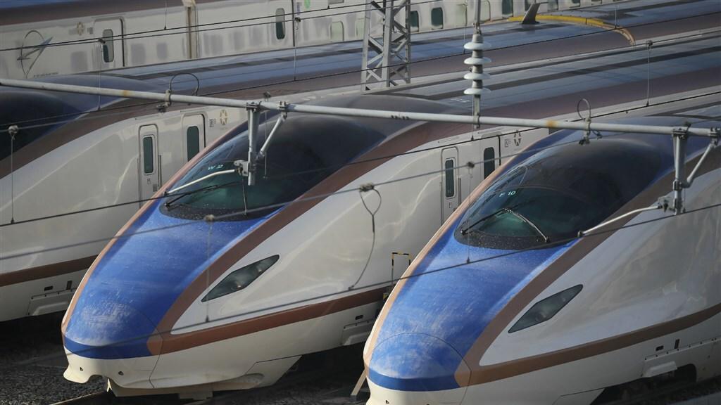 De Shinkansen-kogeltreinen.