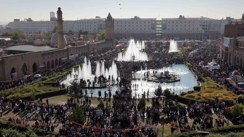De miljoenstad Erbil.