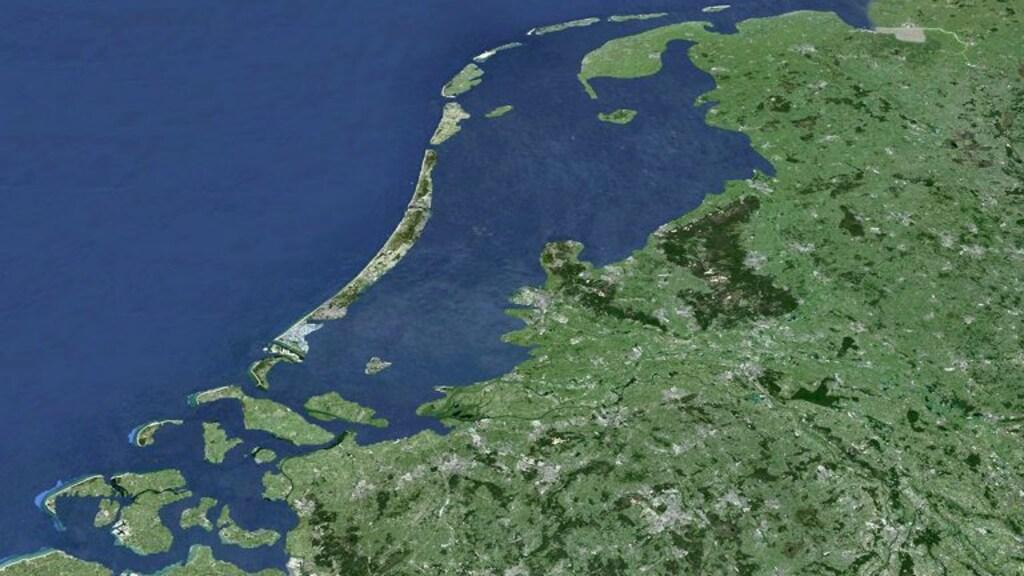 Een voorbeeld van hoe Nederland onder water kan komen te staan.