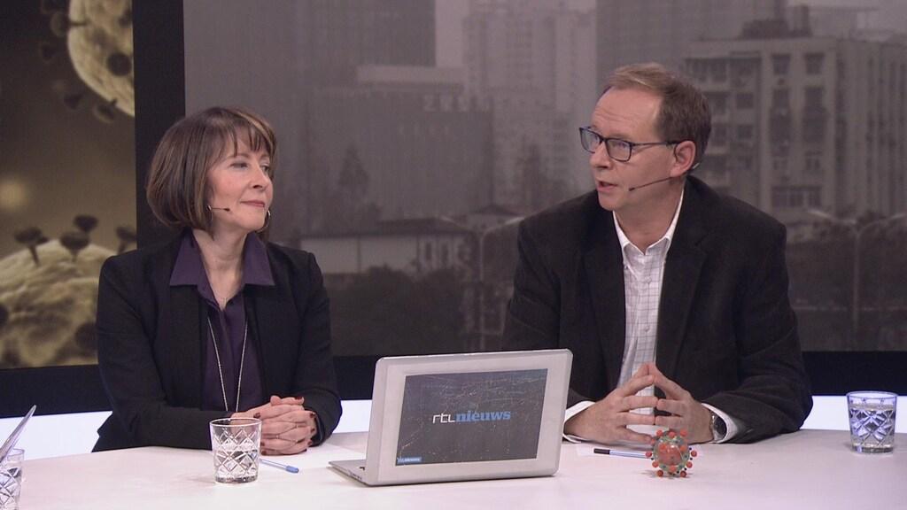 Aura Timen, hoofd infectieziektebestrijding bij het RIVM, en professor Eric Snijder, hoogleraar moleculaire virologie.