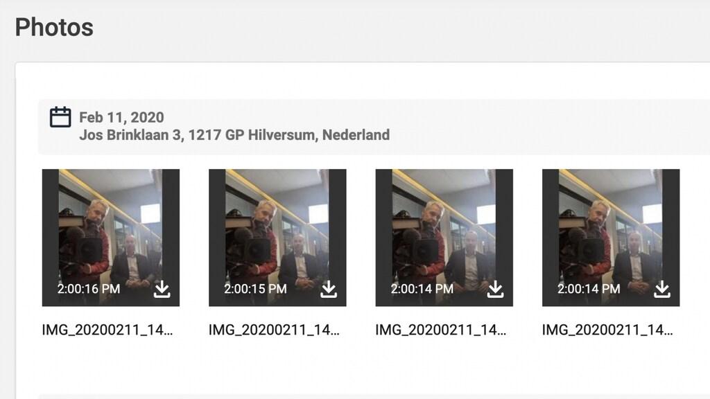 Stalkerware laat zien welke foto's er met de telefoon zijn gemaakt.