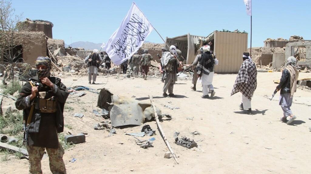 Opmars van de taliban in de provincie Helmand in 2017.