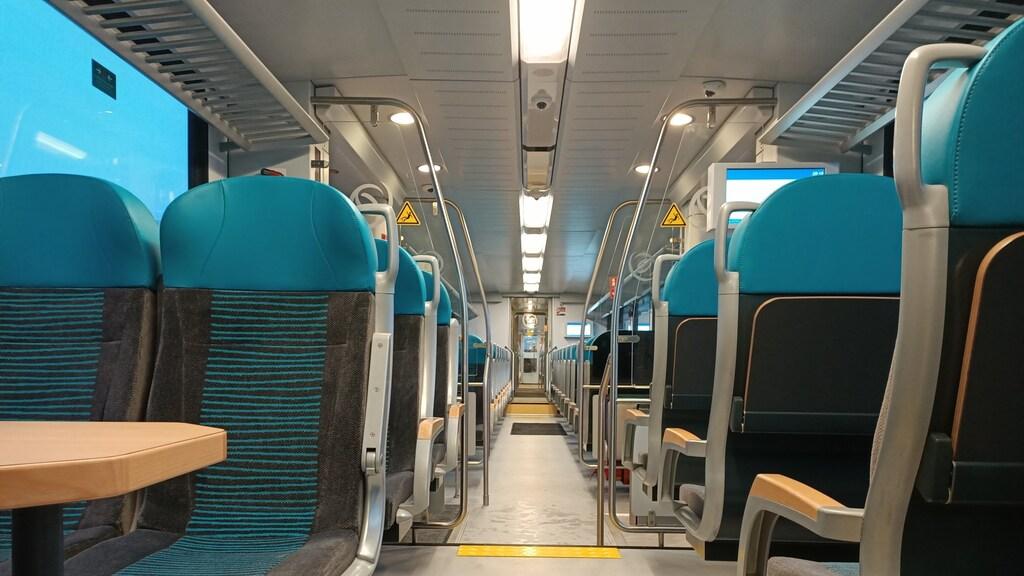 Het interieur van de nieuwe Arriva-treinen