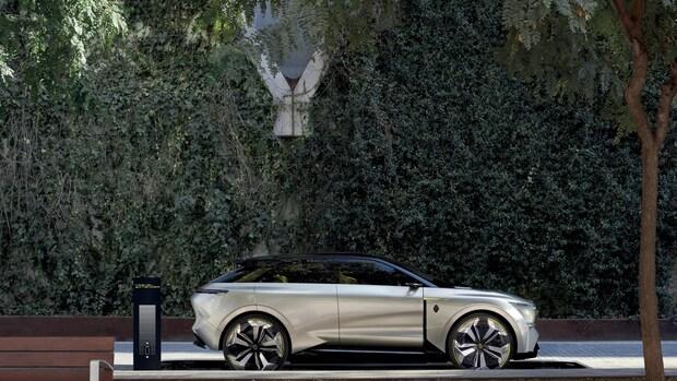 Elektrische conceptauto Renault met hulpaccu