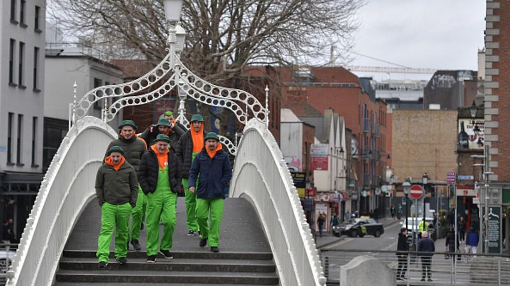 Een aantal mensen heeft zich toch klaargemaakt voor St. Patrick's Day.