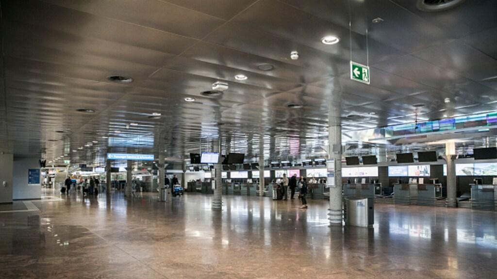 De luchthavens in Oostenrijk zijn leeg.