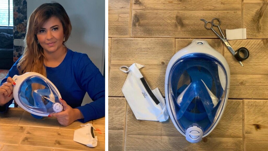 Pricella bouwde een snorkelmasker om