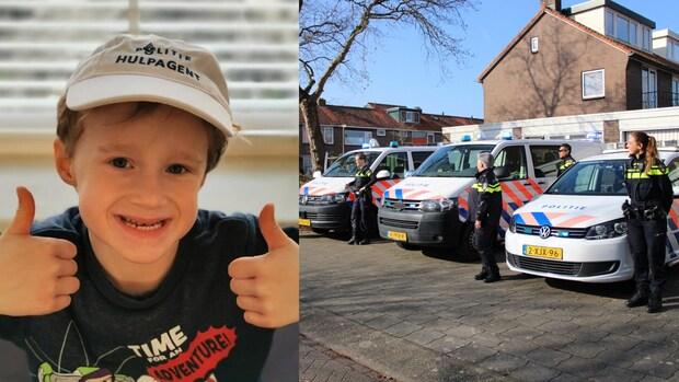 Agenten verrassen jarige politiefan Ollie (6)