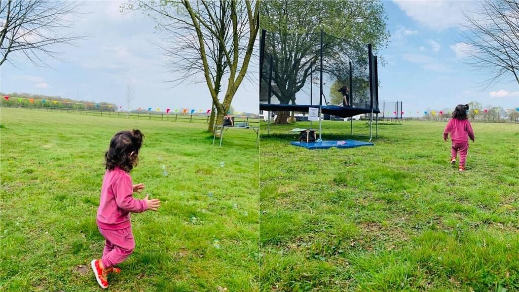 De dochters van Ramika hadden een heerlijke dag in de tuin van Saskia