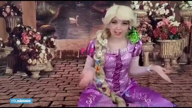 Verkleed als prinses maakt Jaidy kinderen aan het lachen