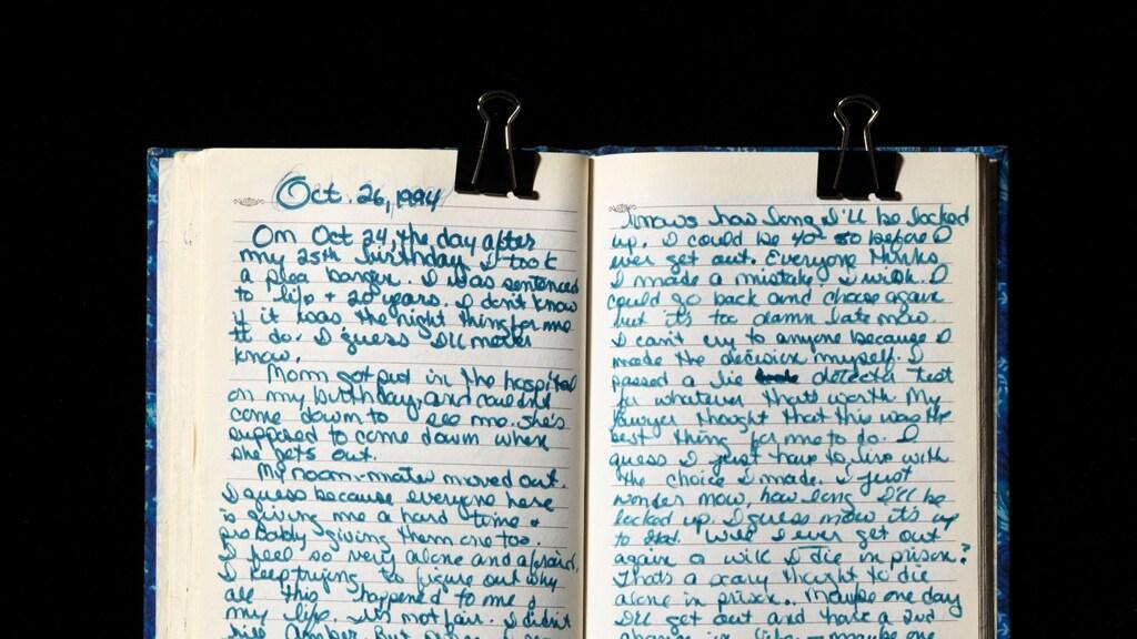 """""""Christina gaf me haar dagboeken."""""""