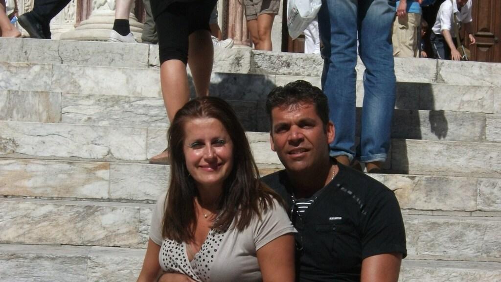 Marina en Bertus op vakantie in Italië.