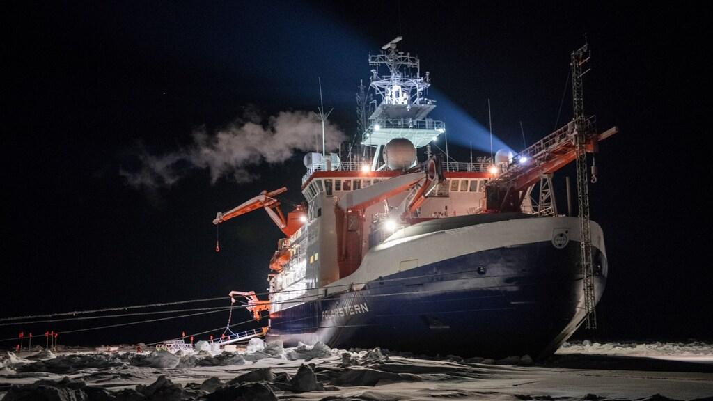 Het onderzoekschip de Polarstern.