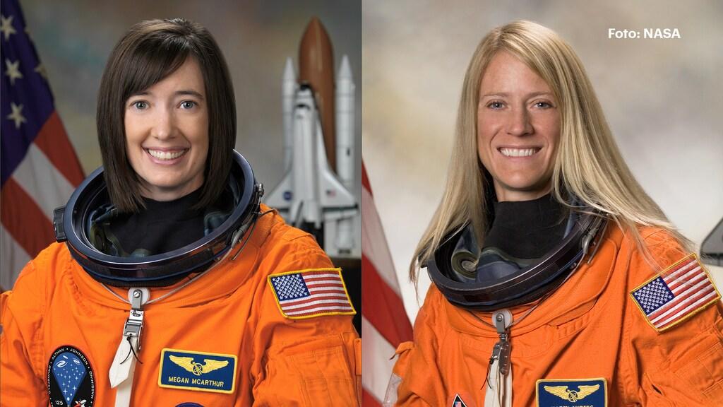 Astronauten Megan McArthur en Karen Nyberg