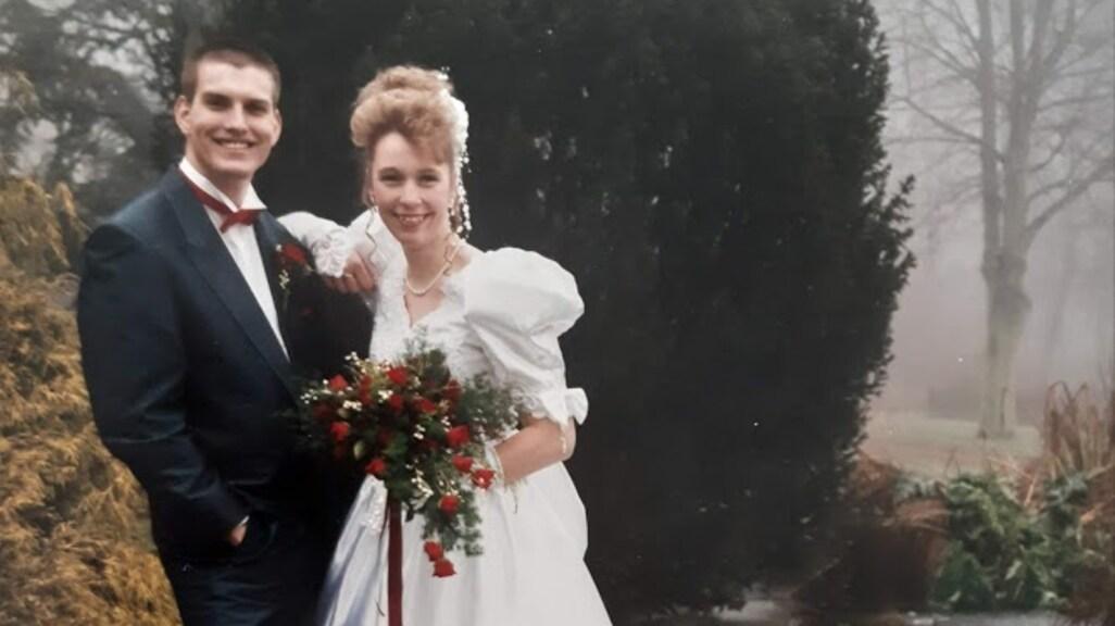 Irene en Johan op hun trouwdag