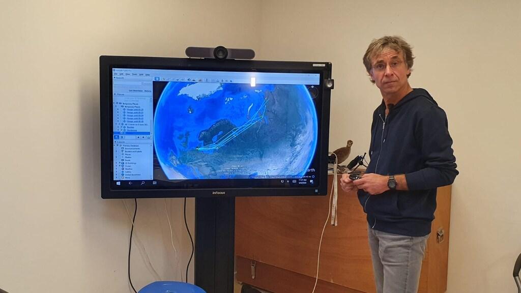 Gedragsecoloog Jan van Gils houdt voornamelijk de kanoeten in de gaten