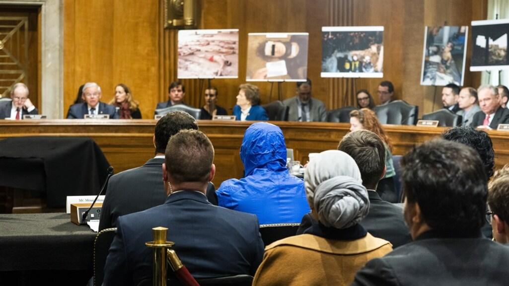 De Syrische dissident 'Caesar' wordt gehoord in het Amerikaanse congres.