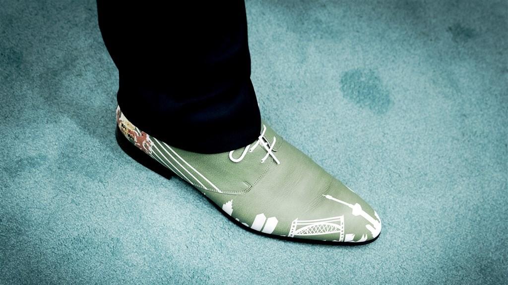 De schoenen van Hugo de Jonge