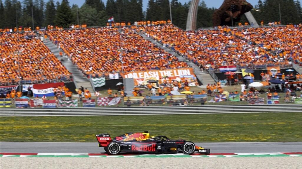 Oranjegekte tijdens de GP van Oostenrijk in 2019
