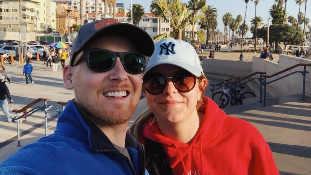 Kevin en Maud in de Verenigde Staten.